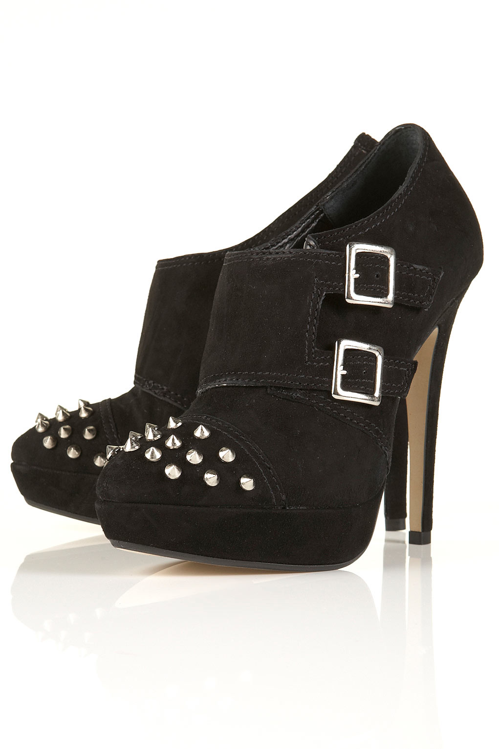 Topshop Stereo Suede Stud Shoe Boots Fortyone Please