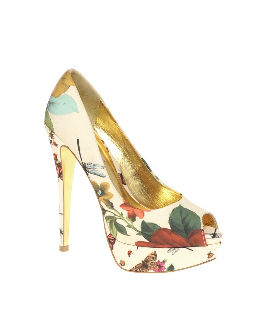 shoe flowers ted baker carlina high platform peep toe